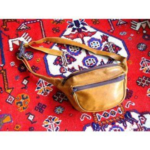 Vintage Tobacco Brown Leather Fanny Pack